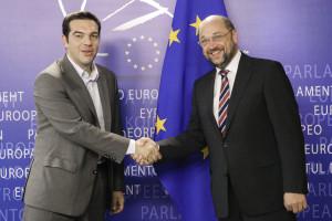 Alexis TSIRPAS, Martin SCHULZ - EP President